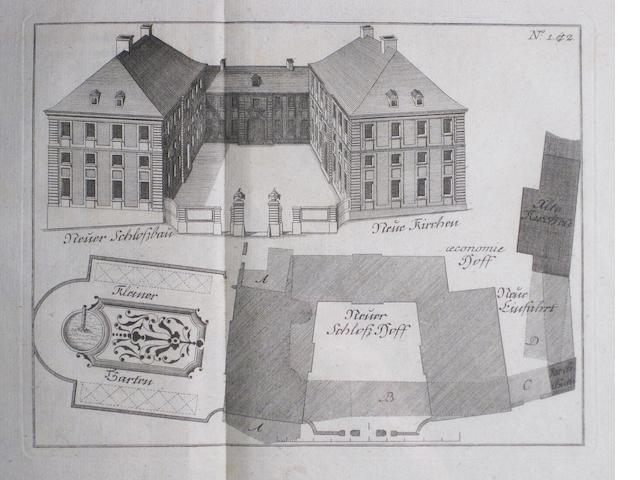 STEINGRUBER, JOHANN DAVID. 1702-1787. Practische bürgerlicher Baukunst. Nuremberg: Christian Gotthold Hauffe, 1773.