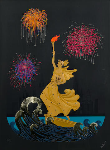 Erté (Romain de Tirtoff) (Russian, 1892-1990); Statue of Liberty (Night);