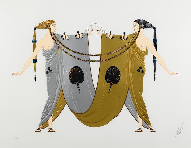 Erté (Romain de Tirtoff) (Russian, 1892-1990); Sisters;