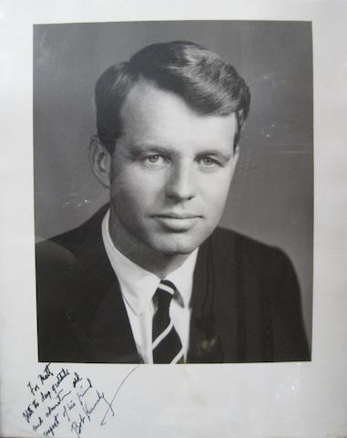 "KENNEDY, ROBERT FRANCIS. 1925-1968. Photograph Signed (""Bob Kennedy"") below and Inscribed"