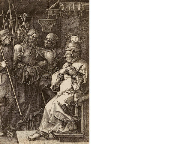 Albrecht Dürer (1471-1528); Christ Before Caiaphas, from The Engraved Passion;