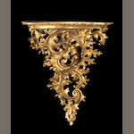 A Florentine giltwood wall bracket <BR />late 19th century