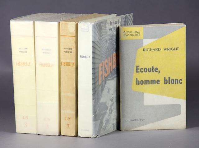 WRIGHT, RICHARD. 1908-1960. Group of 5 titles, comprising: Fishbelly. Paris: Julliard, [1960].