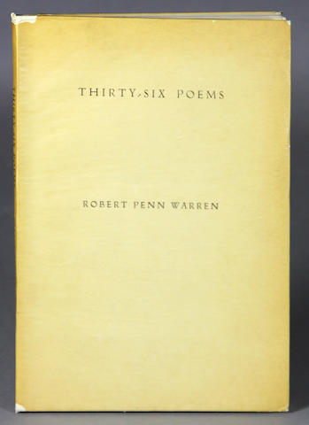 WARREN, ROBERT PENN. 1905-1989. Thirty-Six Poems. New York: The Alcestis Press, 1935.