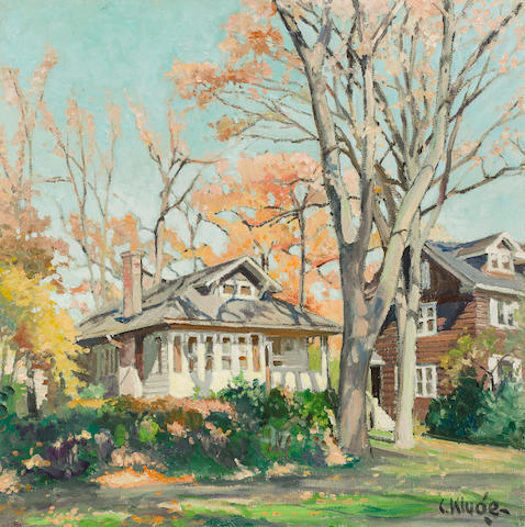 Constantine  Kluge (1912-2003) Indian Summer, près de Chicago 31 7/8 x 32in. (81 x 81.3cm)