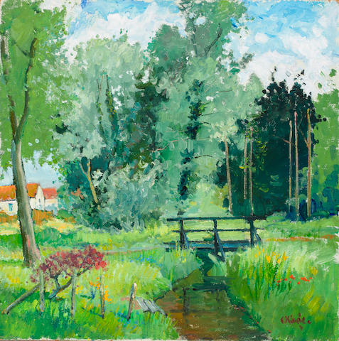 Constantine  Kluge (1912-2003) Paysage 39 x 39in. (99 x 99cm)