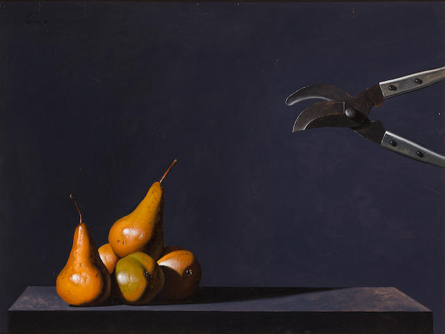 Miguel Padura (Cuban, b. 1957), Intruder, oil on canvas, 17.9 x 24in.