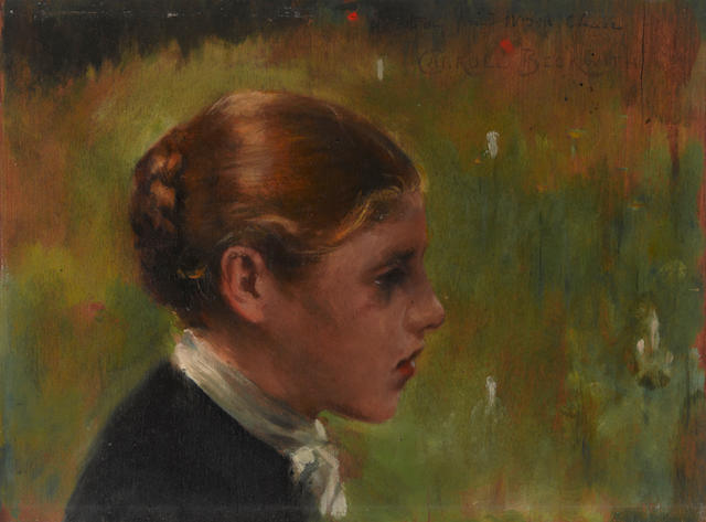 James Carroll Beckwith (American, 1852-1917) Head of a peasant 10 1/4 x 13 3/4in
