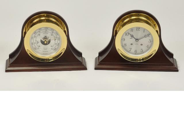 "A Chelsea ""Ship's Bell"" clock and barometer set<BR /> 20th century 7-1/4 in. (18.4 cm.) overall diameter. 2"