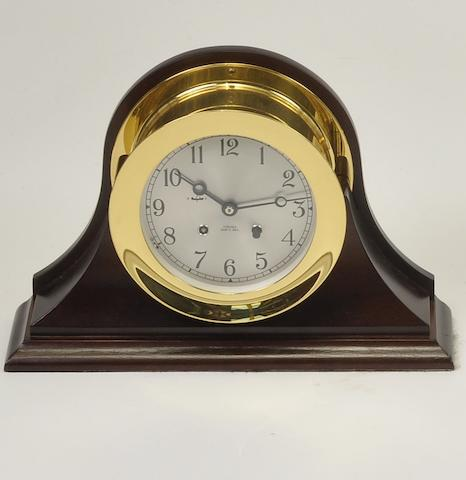 "A Chelsea ""Ship's Bell"" clock<BR /> 20th century 7-1/4 in. (18.4 cm.) overall diameter."