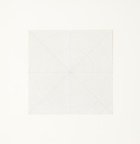 Sol LeWitt (1928-2007) Untitled, 1973 8 7/8 x 8 7/8in. (22.5 x 22.5cm)