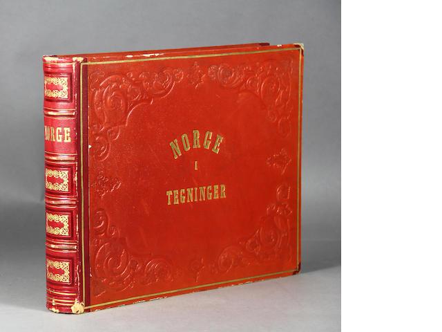 TONSBERG, NIELS CHRISTIAN. Norge, fremstillet i Tegninger. Christiania: Udgiverens Forlag, 1848.