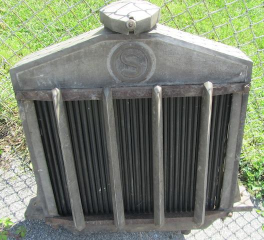 A large early truck radiator,