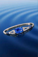 An art deco sapphire and diamond bracelet, Cartier
