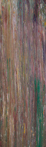 Larry Poons (b 1937) Untitled LP3 (#19), signed L Poons #19 and dated 1975 on the reverse, acrylic on canvas, 82 x 26""