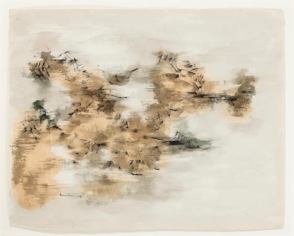 Norman Lewis (1909-1979) Rocky Coastline, 1957 20 x 25in. (50.8 x 63.5cm)