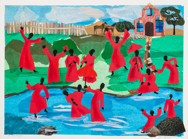 Allen Stringfellow (born 1929) At the River, 1993 22 1/8 x 30in. (56.2 x 76.2cm)
