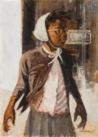 Ernest Crichlow (1914-2005) School Girl, 1965 29 1/2 x 21 1/4in. (74.9 x 54cm)