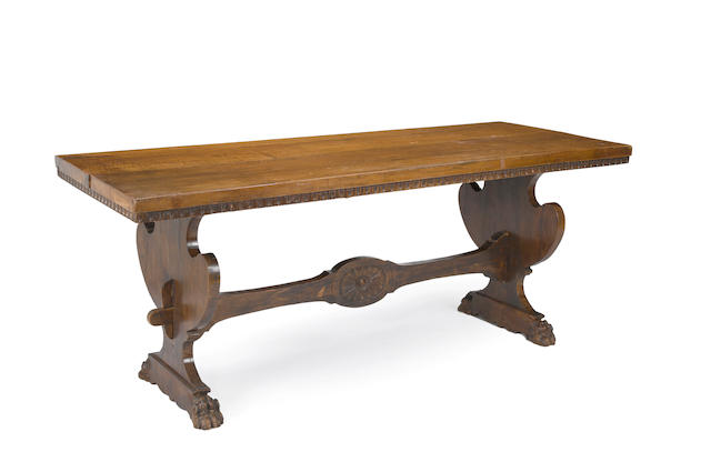 * FINE SALE OR PAD? *A Baroque style trestle table
