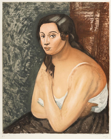 After André Derain (1880-1954);  by Jacques Villon Buste de Femme;