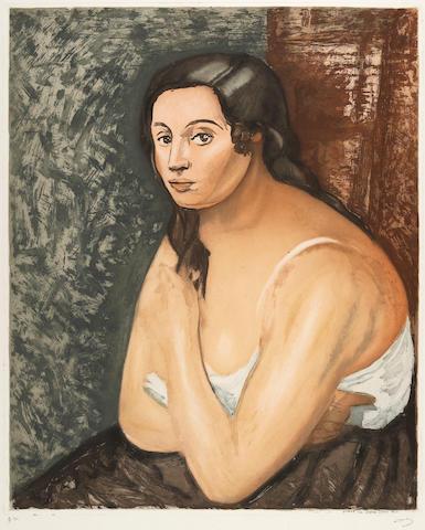 After André Derain (1880-1954);  by Jacques Villon Buste de Femme;