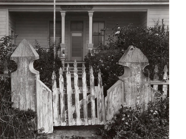 Ansel Adams (1902-1984); Old Gate near Fort Ross;