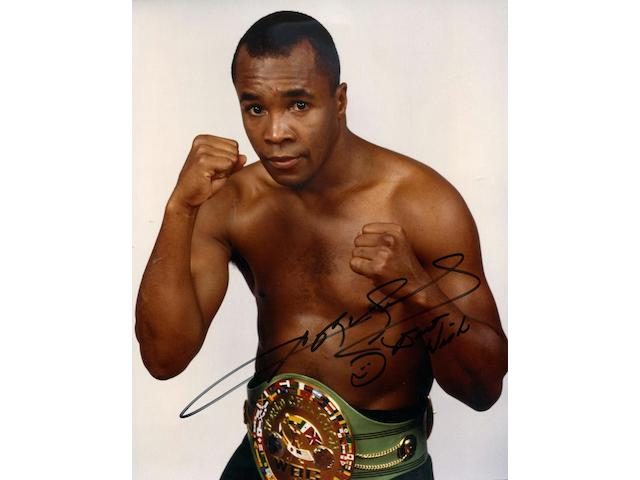 Hublot. The unique Sugar Ray Leonard WBC chronograph wristwatch King Power, Ref:703.OM.0218.HR.WBC12