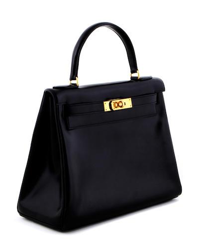 An Hermès black Kelly handbag