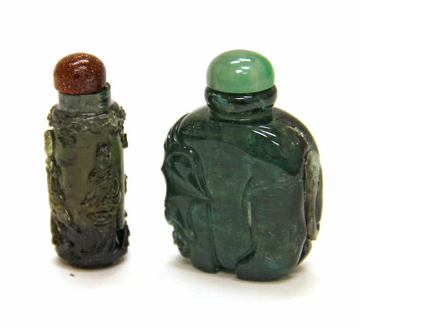 Two beryl snuff bottles 20th century