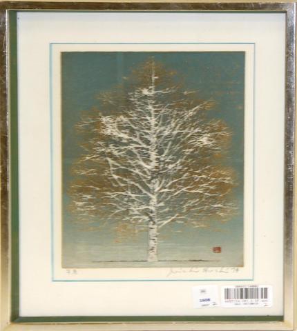 Joichi Hoshi (1913-1979)<BR />Two woodblock prints