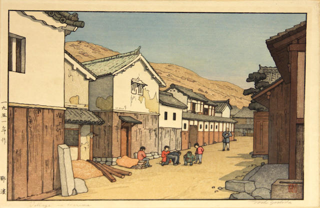 Toshi Yoshida (1911-1995) and others Ten woodblock prints