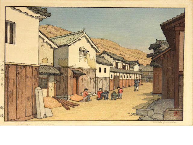 Toshi Yoshida (1911-1995) and others<BR />Ten woodblock prints