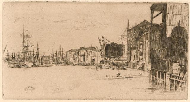 James Abbott McNeill Whistler (1834-1903); Free Trade Wharf;