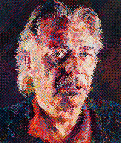 Chuck Close (born 1940) John, 1998 image: 57 1/2 x 48 1/2in. (146 x 123.2cm) sheet: 64 1/2 x 54 3/4in. (163.8 x 139.1cm) This work is printer's proof one from an edition of eighty published by Pace Editions.
