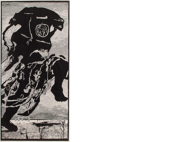 William Kentridge (born 1955) Untitled (Woman Turning into a Telephone), 2000, 3/25 80 1/2 x 40 1/2in. (204.47 x 102.87cm)