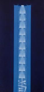 Arnaldo Pomodoro (born 1926) Stele I and Stele III, 1999 each: 54 1/4 x 26 x 1 5/8in. (137.8 x 66 x 4.2cm)