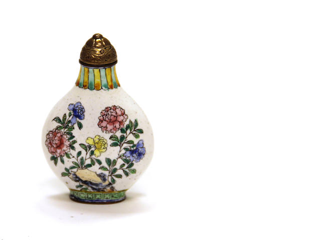 A Canton enameled metal snuff bottle