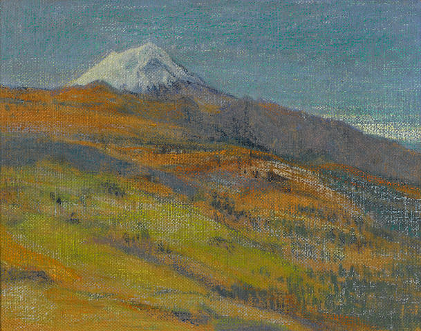Attributed to Dr. Atl   (Gerardo Murillo) (Mexican, 1875-1964) Paisaje 18 1/2 x 22 5/8in. (47 x 57.5cm)