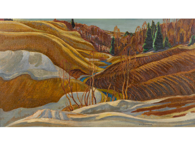 Alexander Young Jackson (Canadian, 1882-1974) St. Lawrence, Early Spring 25 3/4 x 36 1/2in. (66.5 x 92.5cm)