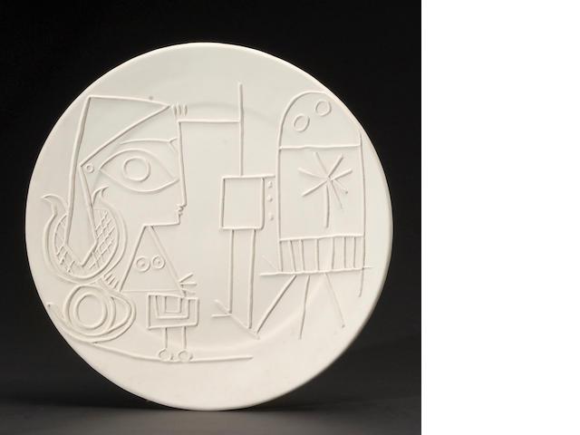 Pablo Picasso (1881-1973); Jacqueline au Chevalet;