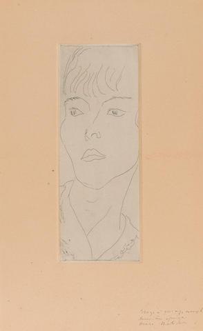 Henri Matisse (1869-1954); Fanny (Mme D.G.);