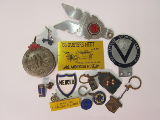 A comprised lot of mixed automobilia,