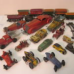 An ensemble of transportation toys,