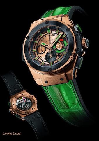 Hublot. The unique Lennox Lewis WBC chronograph wristwatchKing Power, Ref:703.OM.0218.HR.WBC12