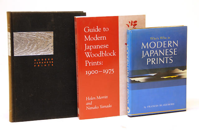 A group of books on Japanese prints