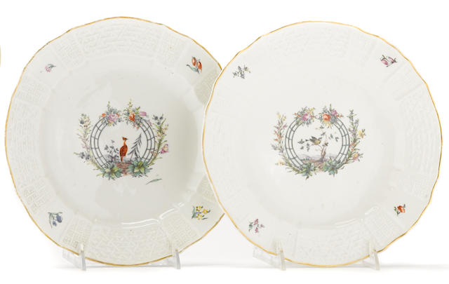 A pair of Nymphenburg porcelain plates circa 1763-77