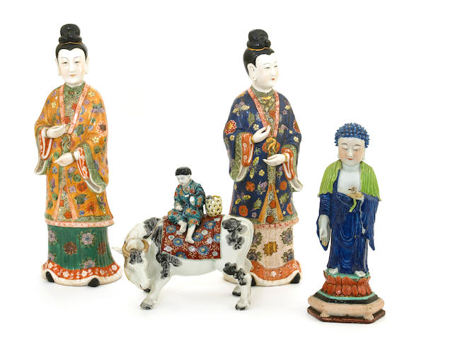 A group of three Chinese porcelain figures
