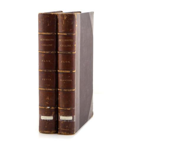[CELLINI, BENVENUTO. 1500-1571.] PLON, EUGENE. Benvenuto Cellini: orfévre, médailleur, sculpteur. [-Nouvelle appendice.] Paris: E. Plon, 1883-1884.