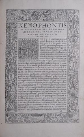 XENOPHON. c.430-c.355 B.C.E. Opera. Basel: Andreas Cratander, 1534.<BR />