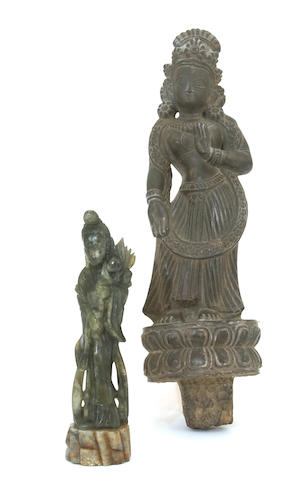 Two Asian stone carvings